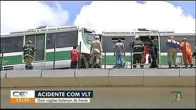Dois vagões do VLT batem de frente e deixa feridos - Saiba mais em g1.com.br/ce