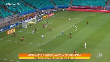 Vitória se prepara para enfrentar o líder Bragantino em São Paulo - O time paulista tem a melhor defesa e o melhor ataque do campeonato. Jogo acontece no domingo (29), às 16h, e tem transmissão da Rede Bahia.