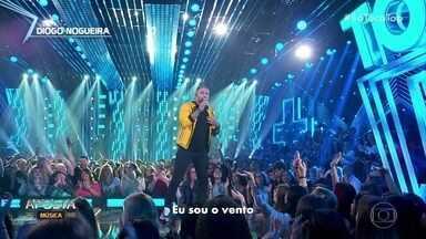 "Luan Santana chama ao palco Diogo Nogueira, que vem como Aposta da Semana - Diogo canta 'Meu Instinto"""