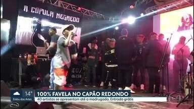 Festival 100% Favela leva 40 atrações para o Capão Redondo - Festival é de graça, reúne grandes artistas, como Mano Brown, e rapper iniciantes.