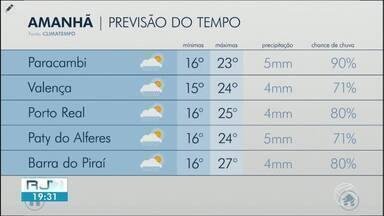 Domingo será de sol com muitas nuvens no Sul do Rio - Possibilidade de chuva fraca e isolada a qualquer hora do dia.