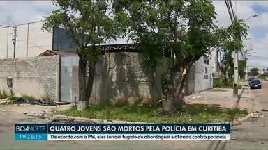 Jovens de 14,16, 17 e 21 anos são mortos por PM em Curitiba - Polícia diz que eles atiraram contra os policiais; família nega essa versão.
