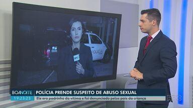 Homem é preso suspeito de abusar da afilhada em Ponta Grossa - Os próprios pais da criança denunciaram o homem aos policiais.