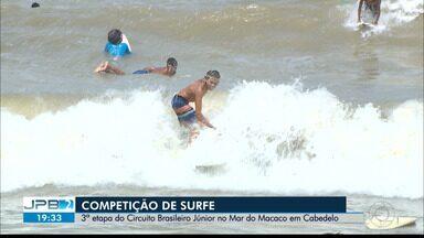 3ª etapa do Circuito Brasileiro Júnior de Surfe no Mar do Macaco em Cabedelo - Competição neste fim de semana.