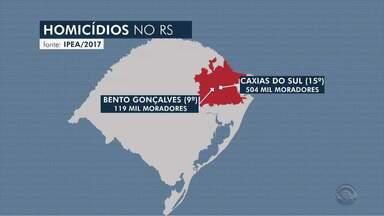 Apesar de assassinatos terem diminuído no RS, Bento Gonçalves registra aumento nos crimes - Crimes têm relação com o tráfico de drogas. Cidade é a 9ª mais violenta do RS.
