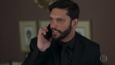 Diogo comunica a Pessanha sobre a investigação de Marcos - Pessanha avisa que vai arrumar um jeito de resolver a questão