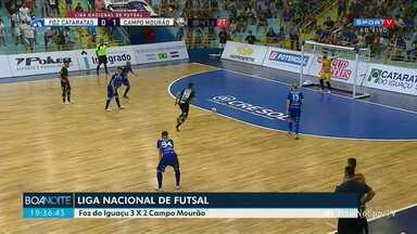Liga Nacional de futsal - Foz do Iguaçu 3 X 2 Campo Mourão.