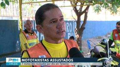 Mototaxistas reclamam da falta de seguranca e constantes assaltos em Teresina - Mototaxistas reclamam da falta de seguranca e constantes assaltos em Teresina