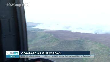 Homem do Exércio combate focos de incêndio na Serra do Lajeado - Homem do Exércio combate focos de incêndio na Serra do Lajeado