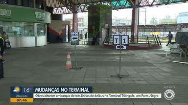 Obras no Terminal Triângulo altera o embarque dos passageiros - Terminal da zona norte de Porto Alegre está sendo reformado.