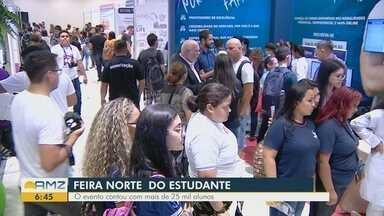 Mais de 25 mil alunos participam da Feira Norte do Estudante, em Manaus - Programação é gratuita teve mais de 100 atividades.