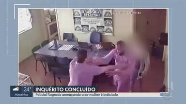 Presidente do Sindicato dos Escrivães de Polícia de MG é indiciado por ameaçar ex-mulher - Câmera de segurança registrou momento em que os dois discutem, na sede da instituição, em Belo Horizonte.