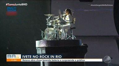 Ivete Sangalo agita público de mais de cem mil pessoas no Rock In Rio - Veja como foi a apresentação da artista baiana, que já participou de 16 edições do evento no Brasil e em outros países.