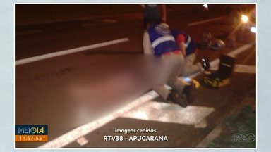 Acidente com morte é registrado na BR-369 entre Arapongas e Apucarana - Jovem de 22 anos foi atropelado e não resistiu aos ferimentos.