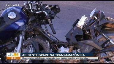 Dois jovens morrem em acidente na transamazônica, em Marabá - Dois jovens morrem em acidente na transamazônica, em Marabá