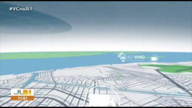 Quadro 'Radar' com boletim do trânsito em Belém - Quadro 'Radar' com boletim do trânsito em Belém