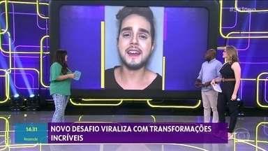 Novo desafio viraliza com transformações incríveis - Vídeo transforma as pessoas com dublagem de uma música durante a maquiagem