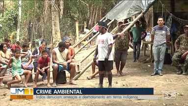 Índios denunciam que estão sendo alvos de ameaças em Zé Doca - Clima é tensão depois que os índios apreenderam máquinas e veículos usados na extração ilegal de madeira das terras indígenas.