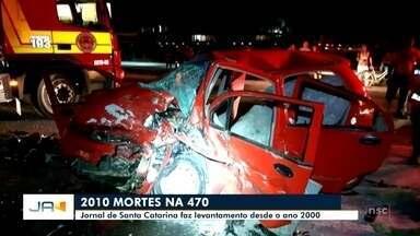 Mais um jovem morre em acidente na BR-470 em Apiúna - Mais um jovem morre em acidente na BR-470 em Apiúna