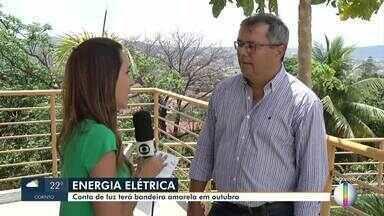 Conta de energia deve ficar mais barata em outubro - Período de chuva favorece o uso das hidroelétricas. Mesmo com a economia, consumidor deve ter consciência no uso.