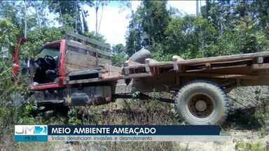Índios de três etnias denunciam que estão sendo ameaçados no Maranhão - A extração ilegal de madeira é o principal objetivo dos invasores, que ameaçam os indígenas.