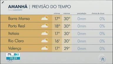 Terça-feira será de sol entre nuvens no Sul do Rio - Não há previsão de chuva e as temperaturas mais altas voltam a predominar ao longo da semana.