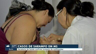 Secretaria de Saúde confirma mais dois casos de sarampo - De acordo com o último boletim da Secretaria Estadual de Saúde, este ano, já são 59 notificações de sarampo. Destes, 30 casos suspeitos foram descartados; 27 seguem sendo investigados.