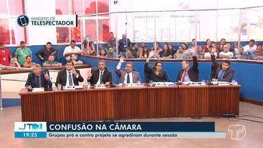 Câmara aprova projeto e autoriza Prefeitura de Santarém a emprestar R$ 123 milhões - Emenda apresentada pelo líder do governo, reduz para R$ 25 milhões o investimento em iluminação pública.