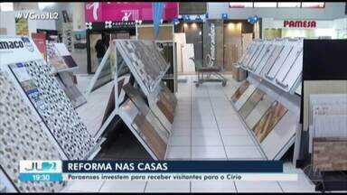Mercado já começa a sentir impactos positivos do Círio de Nazaré em Belém - Muitas pessoas começam a fazer reformas em casa para receber amigos e familiares.