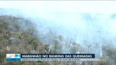 INPE registra mais de 3,6 focos de incêndio em setembro no Maranhão - Nos últimos cinco dias, o Maranhão registrou mais de 250 focos. Segundo o instituto, o estado é o sexto que mais registrou queimadas este ano.