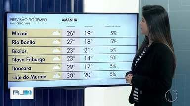 Veja a previsão do tempo para esta terça-feira, 1º de outubro - Confira como ficam as temperaturas nas cidades do interior do Rio.