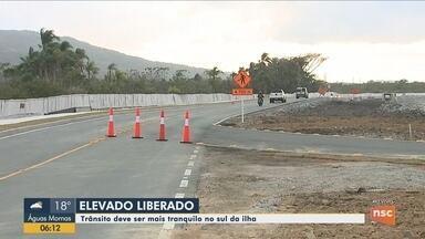 Parte da obra de acesso ao novo aeroporto de Florianópolis está liberada - Parte da obra de acesso ao novo aeroporto de Florianópolis está liberada