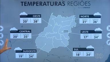 Confira a previsão do tempo para Goiás - Dia deve ser de sol entre nuvens com possibilidade de pancadas de chuva isoladas a tarde.