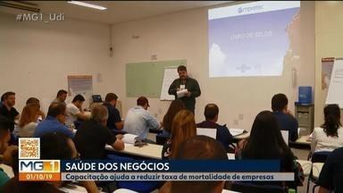 Empreendedores de Uberlândia buscam capacitação para manter negócio - Taxa de mortalidade entre as empresas no Brasil chefa a 46%, segundo Sebrae.