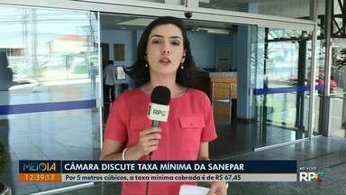Câmara Municipal discute taxa mínima de consumo da Sanepar em Ponta Grossa - Por cinco metros cúbicos, taxa mínima cobrada é a de R$ 67,45.