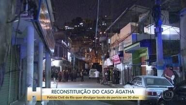 Só dois PMs investigados no Caso Ágatha participaram da reconstituição no Rio - Polícia Civil quer divulgar laudo da perícia em 30 dias.