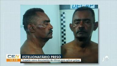 Suspeito de estelionato preso estaria usando documentos de vítimas para aplica golpes - Saiba mais no g1.com.br/ce
