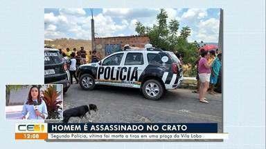 Homem é assassinado no Crato; homem morre em acidente de moto em Potengi - Saiba mais no g1.com.br/ce