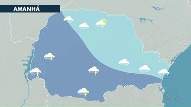 Frente fria se aproxima do estado e provoca chuva nesta quinta-feira (03) - As temperaturas permanecem altas.