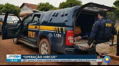 """JPB2JP: Exclusivo: 281 carros e motos roubados foram apreendidos pela Polícia Rodoviária - """"Operação Hircus""""."""