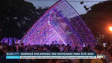 Maringá Encantada deve custar R$ 4 milhões - Abertura do natal está marcada para o dia 15 de novembro a partir das 17h