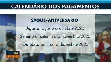 Meio Dia Paraná tira dúvidas sobre o saque-aniversário do FGTS - Quem tiver interesse, precisa informar a Caixa para receber.
