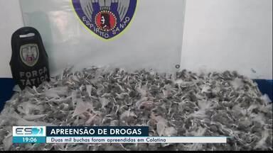 Duas mil buchas de maconha são apreendidas em Colatina, no Noroeste do ES - Droga foi encontrada pela Polícia Militar.
