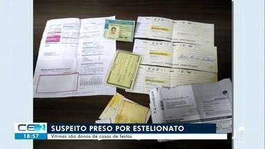 Suspeito preso por estelionato em Juazeiro do Norte - Confira mais notícias em g1.globo.com/ce