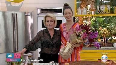 Programa de 03/10/2019 - Ana Maria Braga recebe Nathalia Dill para o café da manhã e mostra os segredos dos cafés especiais. A receita do dia é Pizza com Massa de Pão de Queijo