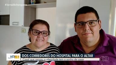 Obesos se conhecem durante tratamento em hospital e sonham se casar, em Goiânia - Amigos se uniram para tentar ajudar o casal a fazer a cerimônia.