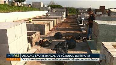 Polícia investiga esquema de retirada de ossadas e venda de túmulos antigos em Ibiporã - O diretor do cemitério é apontado como o líder do esquema.
