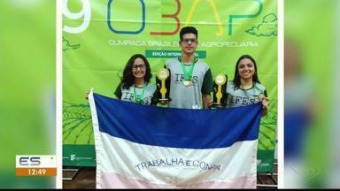 Alunos do Ifes de Alegre são os melhores na Olimpíada Brasileira de Agropecuária - Alunos do Ifes de Alegre são os melhores na Olimpíada Brasileira de Agropecuária.