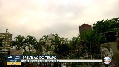 Confira a previsão do tempo para esta sexta-feira (4) - Sexta-feira (040 será de sol e calor no Rio.