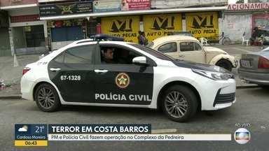 Polícia realiza operação no Complexo da Pedreira, Costa Barros - Um comboio da Polícia Militar e Polícia Civil está se dirigindo ao Complexo da Pedreira, em Costa Barros.